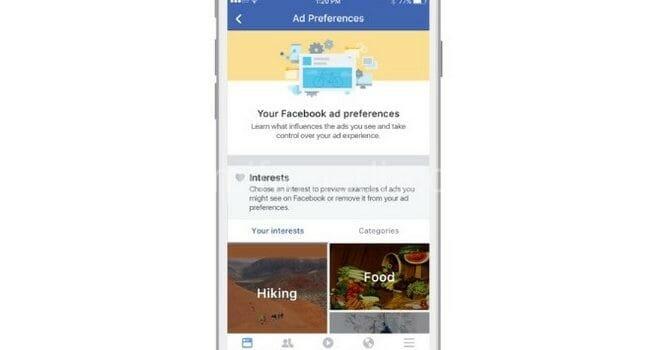 Facebook sắp cho phép người dùng kiểm soát quảng cáo